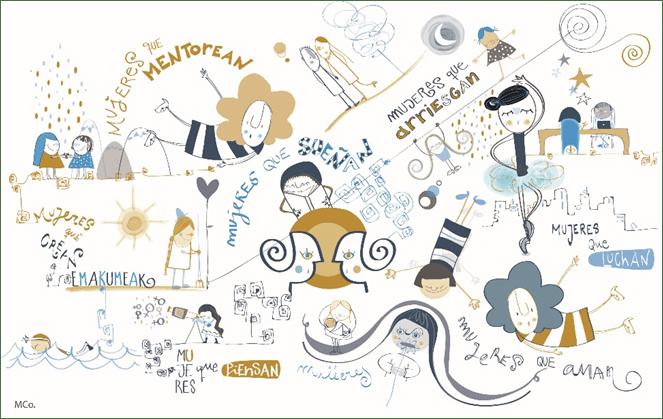 dones mentores, ilustracion,